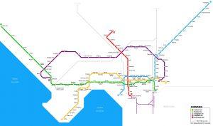Схема метро Шеньженя: