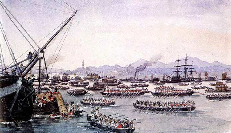 Opium War in China