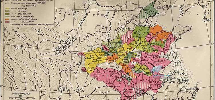 Династия Чжоу в Китае карта