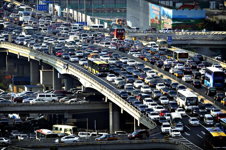 Дорожное движение в Пекине