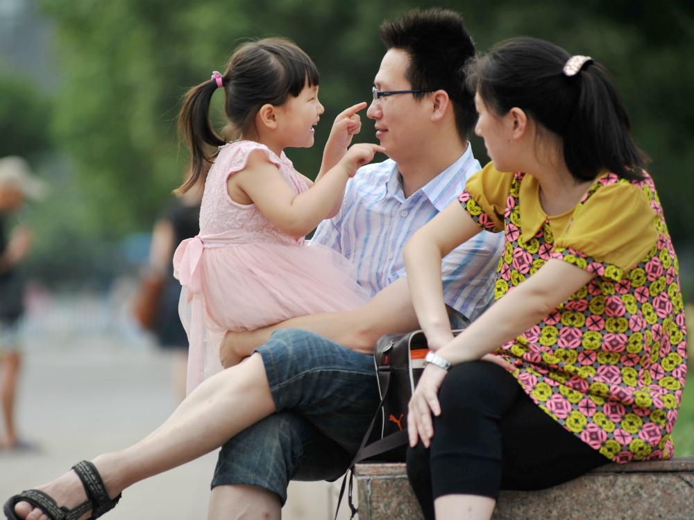 Среднестатистическая китайская семья – 2 родителя и 1 ребенок