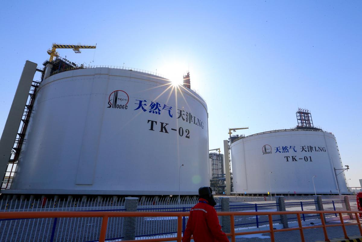природный газ китай